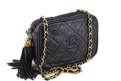 Chanel Black Small Lambskin Classic Quilted Camera Case Bag - Boutique Patina  - 2