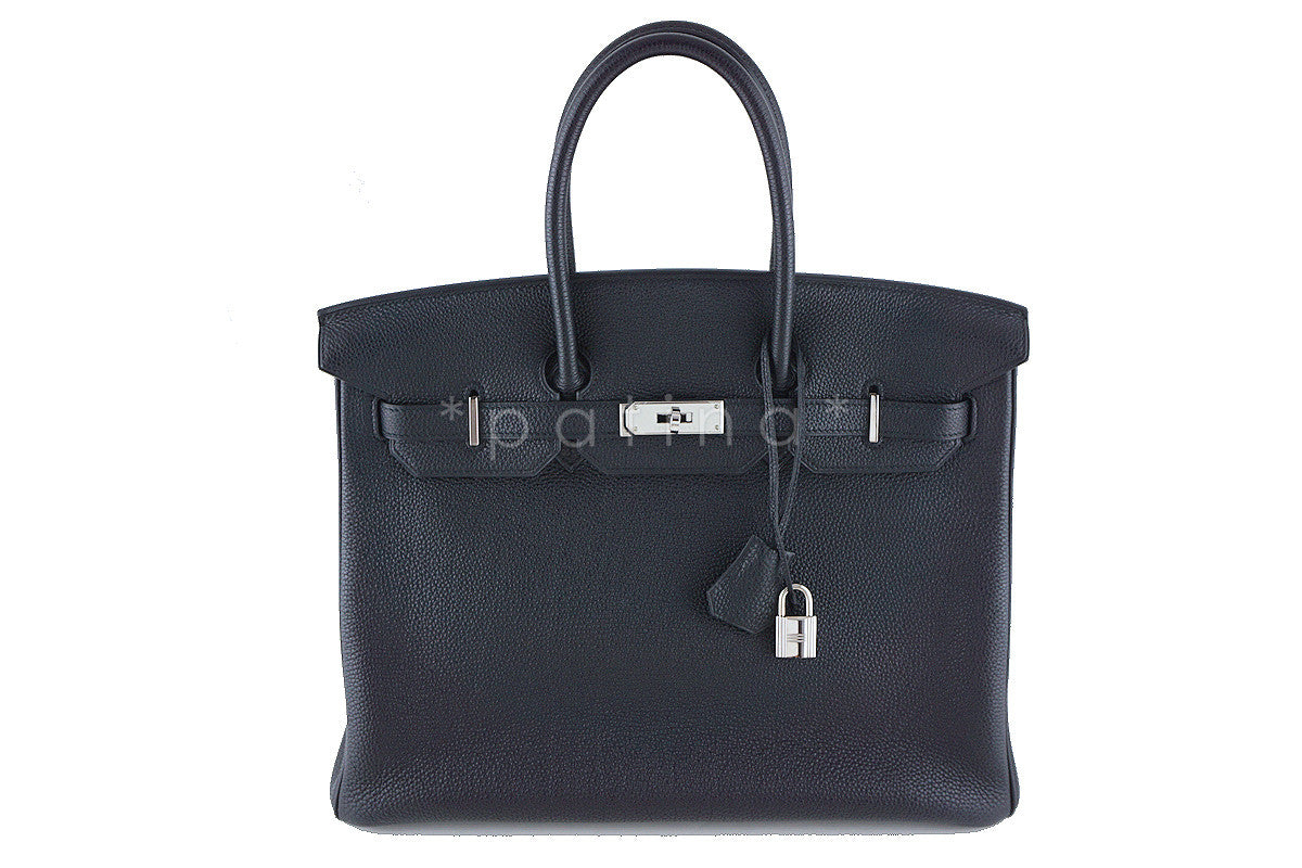 Hermes Black 35cm Birkin Bag, Togo PHW Pristine - Boutique Patina  - 1