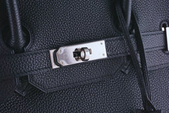 Hermes Black 35cm Birkin Bag, Togo PHW Pristine - Boutique Patina  - 10
