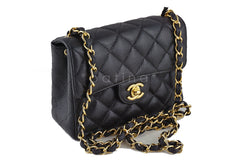Chanel Caviar Mini Flap, Black Classic 2.55 Bag - Boutique Patina  - 2