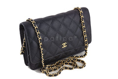 Chanel Black Caviar Classic Quilted WOC Wallet on Chain Flap Bag - Boutique Patina  - 2