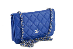 Chanel Caviar Classic WOC Wallet on Chain in Royal Blue Flap Bag - Boutique Patina  - 2