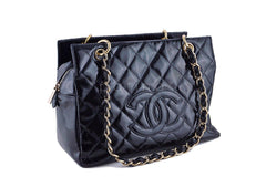 Chanel Black Patent Quilted Timeless Shopper Tote Bag - Boutique Patina  - 2
