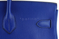 Hermes Shoulder Birkin JPG 2 Bag, Electric Blue 42cm Togo - Boutique Patina  - 10
