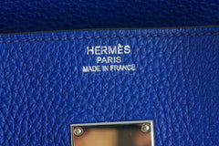 Hermes Shoulder Birkin JPG 2 Bag, Electric Blue 42cm Togo - Boutique Patina  - 12