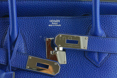 Hermes Shoulder Birkin JPG 2 Bag, Electric Blue 42cm Togo - Boutique Patina  - 13