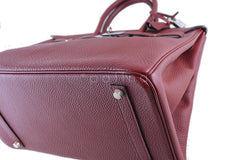 Hermes Red Rouge H 35cm Birkin Bag, Clemence PHW - Boutique Patina  - 9
