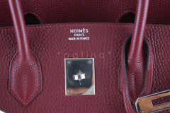 Hermes Red Rouge H 35cm Birkin Bag, Clemence PHW - Boutique Patina  - 14