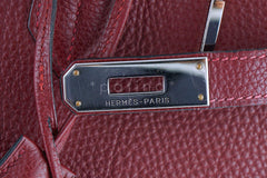 Hermes Red Rouge H 35cm Birkin Bag, Clemence PHW - Boutique Patina  - 15