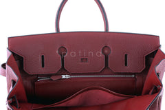 Hermes Red Rouge H 35cm Birkin Bag, Clemence PHW - Boutique Patina  - 17