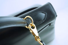 Hermes Kelly Bag, Black 32cm Box calf Retourne GHW - Boutique Patina  - 7