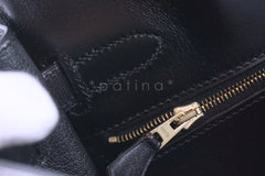 Hermes Kelly Bag, Black 32cm Box calf Retourne GHW - Boutique Patina  - 19