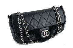 Chanel Classic Flap, Black Luxury Lambskin Fur 2.55 Bag - Boutique Patina  - 2