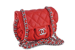Chanel Red Chain Around Mini Classic Flap, Small Crossbody Bag - Boutique Patina  - 2