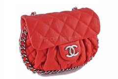 Chanel Red Chain Around Mini Classic Flap, Small Crossbody Bag - Boutique Patina  - 3