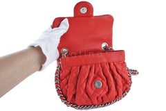 Chanel Red Chain Around Mini Classic Flap, Small Crossbody Bag - Boutique Patina  - 8