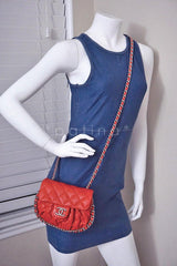Chanel Red Chain Around Mini Classic Flap, Small Crossbody Bag - Boutique Patina  - 13