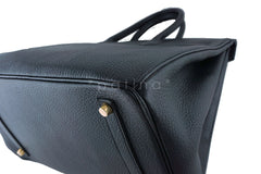 Hermes Birkin Bag, Black 35cm Fjord GHW - Boutique Patina  - 9