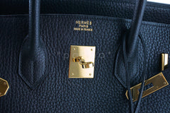 Hermes Birkin Bag, Black 35cm Fjord GHW - Boutique Patina  - 13