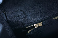 Hermes Birkin Bag, Black 35cm Fjord GHW - Boutique Patina  - 19