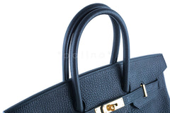 Hermes Birkin Bag, Black 35cm Fjord GHW - Boutique Patina  - 20
