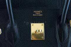 Hermes Black 35cm Birkin Bag, Vache Ardennes GHW - Boutique Patina  - 11
