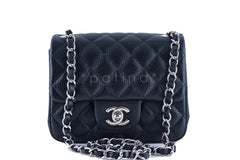 Chanel Caviar Mini Flap, Black Square 2.55 Classic Bag SHW - Boutique Patina  - 2