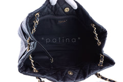 Chanel Black Quilted Large Reissue Clasp Shopper Tote Grand Bag