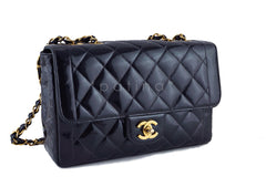 Chanel Black Vintage Patent Classic Medium 2.55 Quilted Flap Bag - Boutique Patina  - 3