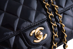 Chanel Black Vintage Patent Classic Medium 2.55 Quilted Flap Bag - Boutique Patina  - 8