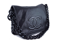 Chanel XXL Black Resin Modern Chain Jumbo Flap Bag - Boutique Patina  - 2