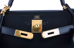 Hermes Black 32cm Box calf Kelly Sellier Bag, GHW - Boutique Patina  - 12