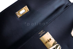 Hermes Black 32cm Box calf Kelly Sellier Bag, GHW - Boutique Patina  - 15