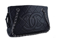 Chanel Black Caviar Quilted Timeless Grand Shopping Tote GST Bag - Boutique Patina  - 2