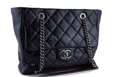 Chanel Black Shopper Classic Flap Tote with Boy Chain Bag - Boutique Patina  - 2