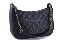 Chanel Black Caviar Quilted Camera Case Shopper Tote Bag