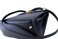 Hermes Black 28cm Box calf Kelly Sellier Bag - Boutique Patina  - 7