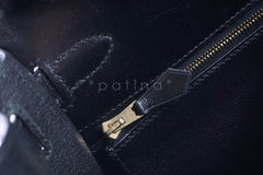 Hermes Black 28cm Box calf Kelly Sellier Bag - Boutique Patina  - 16