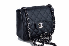 Chanel Black Caviar Classic Quilted Square Mini 2.55 Flap Bag - Boutique Patina  - 2