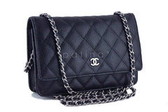 Chanel Black Classic Quilted WOC Wallet on Chain Flap Bag - Boutique Patina  - 2