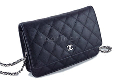 Chanel Black Classic Quilted WOC Wallet on Chain Flap Bag - Boutique Patina  - 3