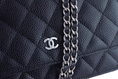 Chanel Black Classic Quilted WOC Wallet on Chain Flap Bag - Boutique Patina  - 8