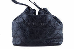 Chanel Black On the Road Large Drawstring Bucket Tote Bag - Boutique Patina  - 4