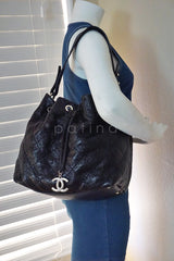 Chanel Black On the Road Large Drawstring Bucket Tote Bag - Boutique Patina  - 11
