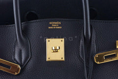 Hermes Black Clemence 35cm Birkin Bag GHW - Boutique Patina  - 12