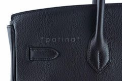 Hermes Black Clemence 35cm Birkin Bag GHW - Boutique Patina  - 15