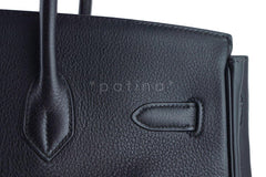 Hermes Black Clemence 35cm Birkin Bag GHW - Boutique Patina  - 16