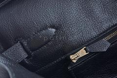 Hermes Black Clemence 35cm Birkin Bag GHW - Boutique Patina  - 19