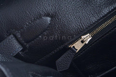 Hermes Black Clemence 35cm Birkin Bag GHW - Boutique Patina  - 20