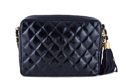 Chanel Black Patent Classic Quilted Camera Case Bag - Boutique Patina  - 4
